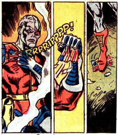 Deathlok Tears Off Flag